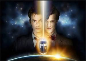 David Tennant and Matt Smith as the Doctor