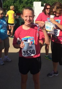 Congrats Erin for taking 3rd in the 14 and under category for the Firecracker Run 10K!