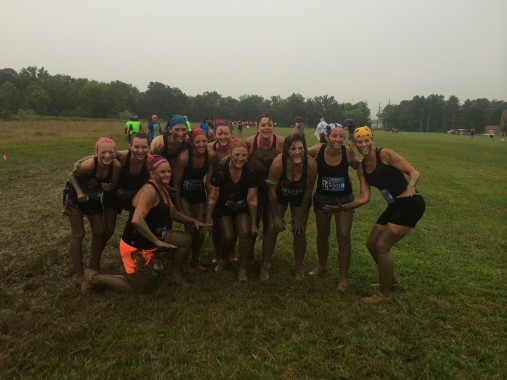 We weren't TOO dirty after the first mud pit.