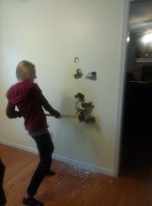 Erin with sledgehammer