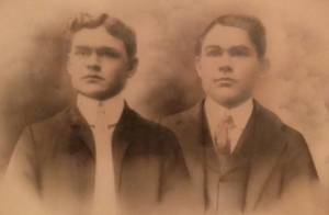 Pappy is on the right, his brother Harry is on the left.  I can definitely see the family resemblance with my Grandpa Long and his dad.