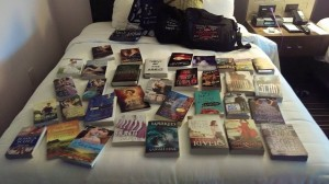 Here are the books I brought home with me, many of them signed by the author.