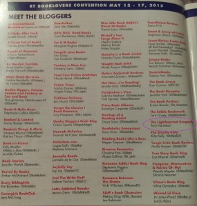 The Blogger listing page in the RT Convention program