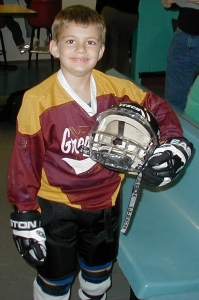 Tyler in his hockey days